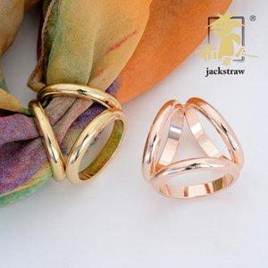 Neues koreanische Art und Weise einfach wildes reines Kupfer dicken Dreiring Schal Schnalle Ring Schal Ring direkt ab Werk