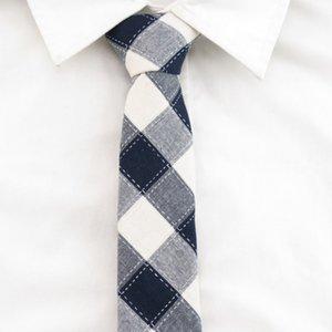 navy bianco linea tratteggiata uomo Cravatte Bowtie fazzoletto cravatte strette set 3 pezzi per gli uomini di fasion partito Accessori cravata cotone