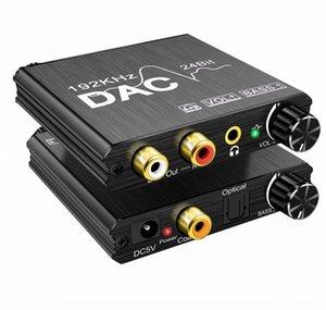 Bass ve Ses kontrolü Ayarı SPDIF Optik toslink Koaksiyel ile Analog Audio Converter 192KHz Dijital