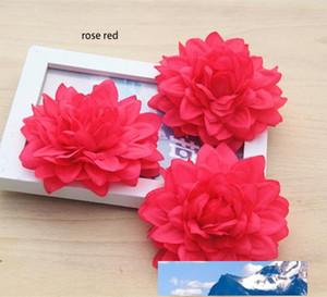 9 centímetros / 3.54inch cabeça grande artificial DÁLIA seda emulational flor para casa, jardim, casamento, ou para no chapéu ou vestido decoração do feriado de beleza
