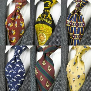 Printed Krawatten Weinlese-Muster Abstrakt Charakter Multicolor 10 cm Mens Krawatte 100% Seide Druck Kostenloser Versand Handarbeit einzigartige LJ200915