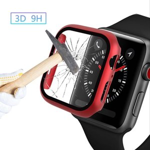 360 Full Screen Protector Bumper Frame Matte Hard Case For Watch Series 5 4 3 2 1 Cover Tempered Glass Film For iwatch 40 44 38 42MM