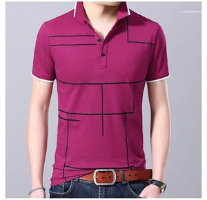 Mens Basic Top Clothing Plus Size Summer Mens Designer Striped Polos Patchwork Slim Button Lapel Tees Short Sleeve Summer Clothing