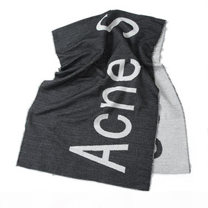 Fashion-Studio hang tag shawl with designer scarves for fashionable eleganear luxury scarf acne letter long warm scarfs
