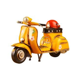 Presentes de aniversário brinquedo criativo Ferro Pedal moto em miniatura Modelo retro Ornamentos de Metal Home Decor Ferro Motorcycle Crafts