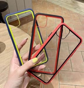 Şeker Renk iphone 11 pro max XR XS Max Anti-drop 8 7 Renk çerçeve Çarpışma önleyici cep telefonu koruyucu kapak için Şeffaf Telefon Kılıfı