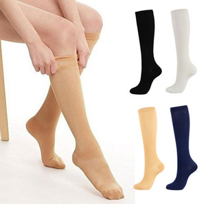 Unisex Compression Socks Pressure Varicose Vein Stocking knee Sports Socks for Bicycle Football Stretch Breathable Soccer