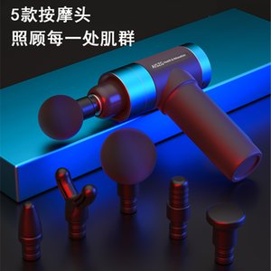 OEM private label Cordless 5 Speed Electrical Health Care Pulse Deep Booster Vibration Percussion relaxer Tissue Fascia Muscle Massager Gun