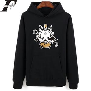 LuckyFridayf Impressão do diabo Hoodies dos desenhos animados Hip Hop e Satan Satan New Brand New Marca Suéter Homens Roupas Moda Estilo de Outono C19041901