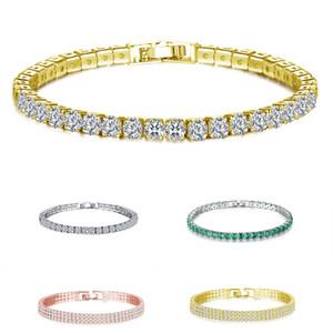 Charming Damenmode Armband Valentinstag Souvenirs volles Bohrgerät Kristallarmbänder Modische Gedenk Schmuck VT1655