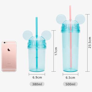 Venta al por mayor libre de BPA de gran capacidad Botella Deporte acuático al aire libre que va de excursión la botella de plástico portátil espacio de agua con la paja