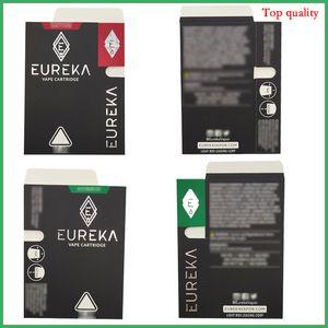 Diamond Shape Packaging Eureka Cartridges Coil ceramica 1.0 / 0.8ml Nessuna perdita Atomizzatore di Vapes Carrelli Papera Pen Pen Moon Rock
