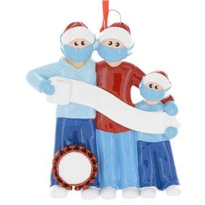 1/2 / 4pcs 2020 enfeite Dated DIY Escrever Desenho de suspensão pendente do ornamento para árvore de Natal Home Decor em estoque