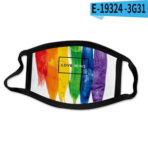 Le maschere LGBT gay gente 3D stampa Designer cotone maschera viso riutilizzabile maschere sport del portello fuori equitazione Moda DHB117