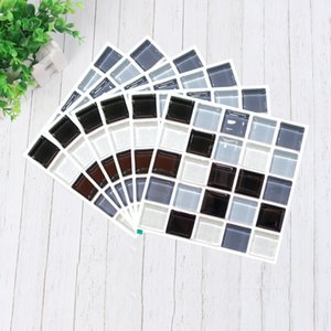 Easeylike 6PCS Premium Mosaic Self Adhesive Wallpaper Sticker, DIY Waterproof Ceramic Tiles Stickers, Home Decor Kitchen Toilet Wall Paper