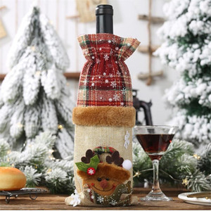 2020 Christmas Wine Bottle Cover Merry Christmas Decor For Home Table Decor Xmas Gift Happy New Year 2021