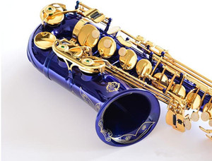 Japan Suzuki Brand New Saxophone E Flat Alto High Quality Blue Alto Saxophone With case Professional Musical Instruments