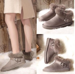 Rabbit Hair 2019 New Snow Boots Womens Autumn And Winter Shoes Short Ankle Boots Warm Boots Padded Snow Cotton Plush Shoes