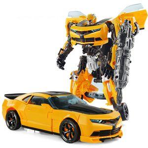 2018 Deformation Bumble Bee Transform Car Model to Robot Toys Boys Education DIY Toys Gift