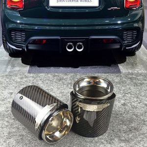 Car Exhaust System Muffler Tip Tail Pipes Pipe Cover Rear glossy carbon Fiber For MINI Cooper R55 R56 R57 R58 R59 R60 R61