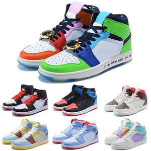 2020 I nuovi classici 1s 1 bambini scarpe da basket top 3 ombra oro Chicago allevato tabellone frantumi allevato punta nera donne degli uomini scarpe da ginnastica