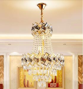 Modern kristal avize ev atmosferi yemek odası avize oturma odası lamba Villa Otel Satış Departmanı Avize
