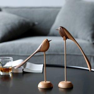 Dinamarquês ornamentos de madeira jóias de escultura de madeira do jogo Home Furnishing Nordic fantoche estilo Home Furnishing apresenta pássaro de madeira