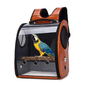 Pet Parrot Uccello Carrier borsa da viaggio spaziale zaino copertura trasparente e traspirante Outdoor