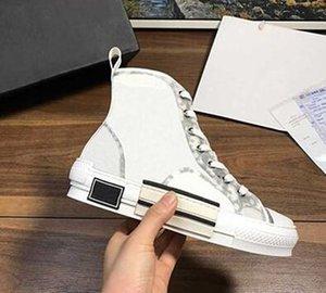2020 sapatas de lona impressas nova edição limitada costume, forma versátil sapatos altos e baixos, com originais sapato embalagem caixa de entrega 34-45