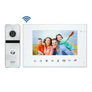 Video-Door-Telefone verdrahtet 720p Ahd Tuya Smart Wi-Fi Telefon Türklingel Intercom-System IR-Kamera 7-Zoll-Touch-Aufnahme-Bildschirm