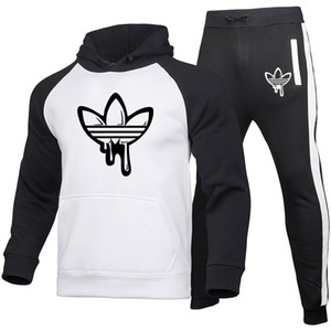 Nouveau designeur Supports de la mode Vêtements Sportswear Couleur Grand Taille Sweat à capuche Femme Sports Sweat Sweat Hoodie + Pullpants Casual Pull à manches longues