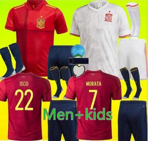 Взрослые и дети 2020 2021 Испания футбол Джерси RAMOS Тьяго 20 21 сборная DIEGO COSTA Rodri Мужчины + дети футбол рубашка Camisetas де fútbo