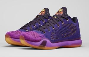 ZOOM Mamba X 10 Elite Открытие Night Обувь для продажи с Box Mamba Душевности 10 Мужчины Баскетбол обувь Магазин Размер 7-12