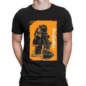 Feuerwehrmann-T-Shirts Klassischer verrückte Kleidung-Sommer-Art-Mann-T-Shirt Ehrfürchtig Euro-Größe Bilder Anlarach Designing