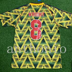 톱 레트로 클래식 1991/93 스타 라이트 아담스 Vieira Martin Keown Bergkamp 홈 멀리 축구 유니폼 타이어 셔츠 S-2XL