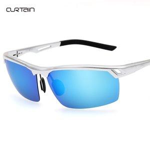 Anti UV Açık spor sürüş yansıtan renkli Erkekler alüminyum magnezyum polarize güneş gözlüğü moda OEM güneş gözlüğü