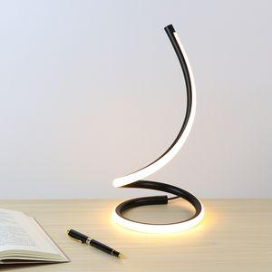 Настольная лампа с сенсорным ON / OFF переключатель затемняя свет стол LED Night Light Алюминий Спальня Кроме Декоративное освещение Reading Light