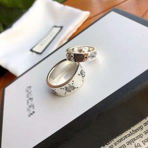 2020 Designer reale 925 Sterlingsilber-Weinlese-Ringe für Frauen-Mann-Liebhaber Punk Art und Weise kühlen Schmuck Schädel-Ring g Bijoux Geschenke B.zero1