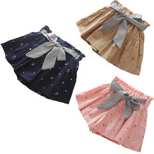 2020 novo verão menina shorts crianças saias shorts babados bowknot crianças shorts moda meninas roupas