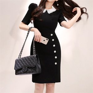 Runway Designer 2019 Summer New Women Fashion Elegant Slim Chic Office Lady Dress 0921