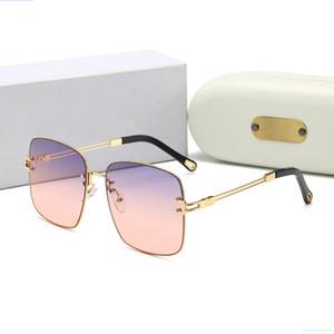 157 Evidence Luxury Миллионер Солнцезащитные очки Retro Vintage мужчин Cолнцезащитные очки Shiny Gold Summer Style Laser Logo Позолоченные Z0350W
