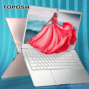 14 Inch N4100 Mini Metal laptop 8G RAM Fashion Silver Portable Business Office Netbook Student PC Computer Women Slim Notebook