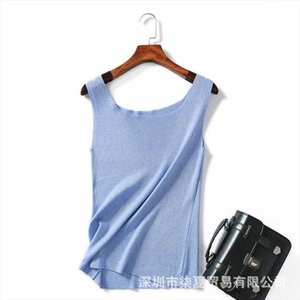 New tank tops Knitted T shirt 2020 summer solid Top Vest crop tops Camisole Women White multicolors Fitness Femme loose tops