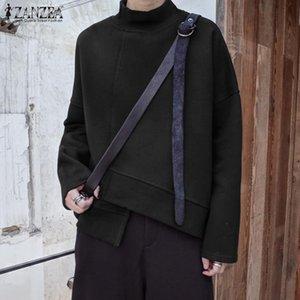 2020 ZANZEA Women Trutleneck Long Sleeve Sweatshirt Casual AutumnPullover Winter Solid Basic Hoodies Tops Fashion Sweatshirts