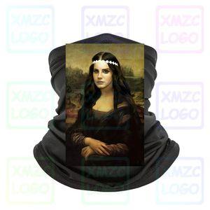 Mona Lisa Da Vinci Parody Lana Del Rey Portrait Masterpiece Black Bandana Headband scarf Bandana Neck Warmer Women Men