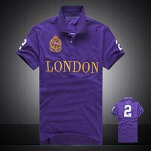 Transpirable bordado diseñador de la ciudad de polo camisetas para los hombres delgado de la manera ocasional camiseta del polo