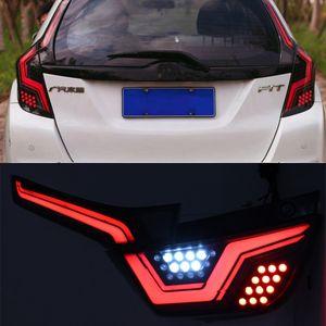1 Set LED Car Luz Traseira Taillight Para Honda JAZZ FIT GK5 2014-2018 Rear Fog Lamp Light + Brake + reverso + Dinâmica Turn Signal