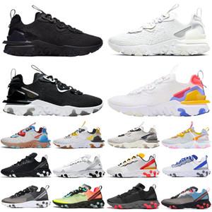 React Vision Type N354 Gore-Tex Elemanı 55 87 Erkek Kadın Koşu Ayakkabıları Üçlü Siyah Açık Erkek Eğitmenler Spor Ayakkabıları Koşucular