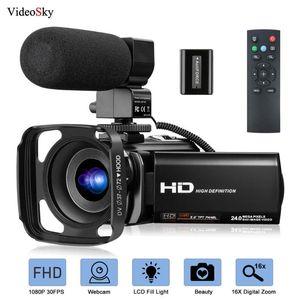 Mikrofon FHD 1080P 30FPS 24MP Vlogging YouTube Kameralar 16X Dijital Zoom Kamera Webcam Recorder ile Video Kamera Kamera