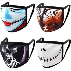 Halloween Cosplay Bat Skeleton Natal abóbora 3d Digital Printing Cotton Lavados Máscara Spoof Props